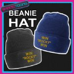 BEANIE HAT WIN ROCKY WIN BOXING SLOGAN